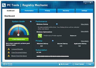 PC Tools Registry Mechanic 11.1.0.188 + Portable (2012) + ключ, кряк