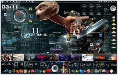 Rainmeter 2.4 build 1623 + Skins (PC/RUS)
