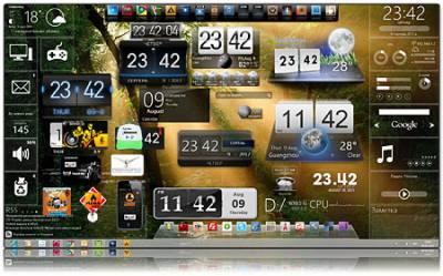 Gadgets / Лучшие гаджеты + Виджеты XWidget для Windows / Виндовс 7 (2012)