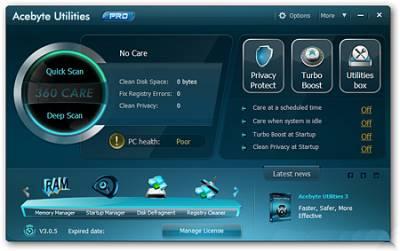 Acebyte Utilities Pro v3.0.5 + Portable (2012)