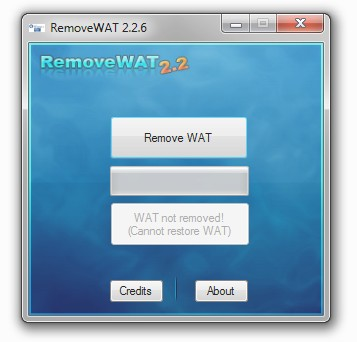 RemoveWAT 2.2.6 ( активатор windows виндовс 7 )+ключ